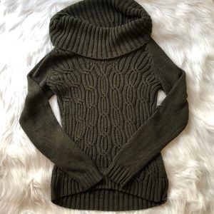 Loft Cable Knit Green Sweater